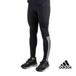 Adidas Mallas Largas Running 3 Bandas Negro Hombre
