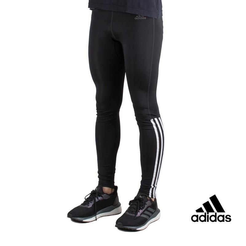 Caballero amable revisión escotilla  Adidas Mallas Largas Running 3 Bandas Negro Hombre