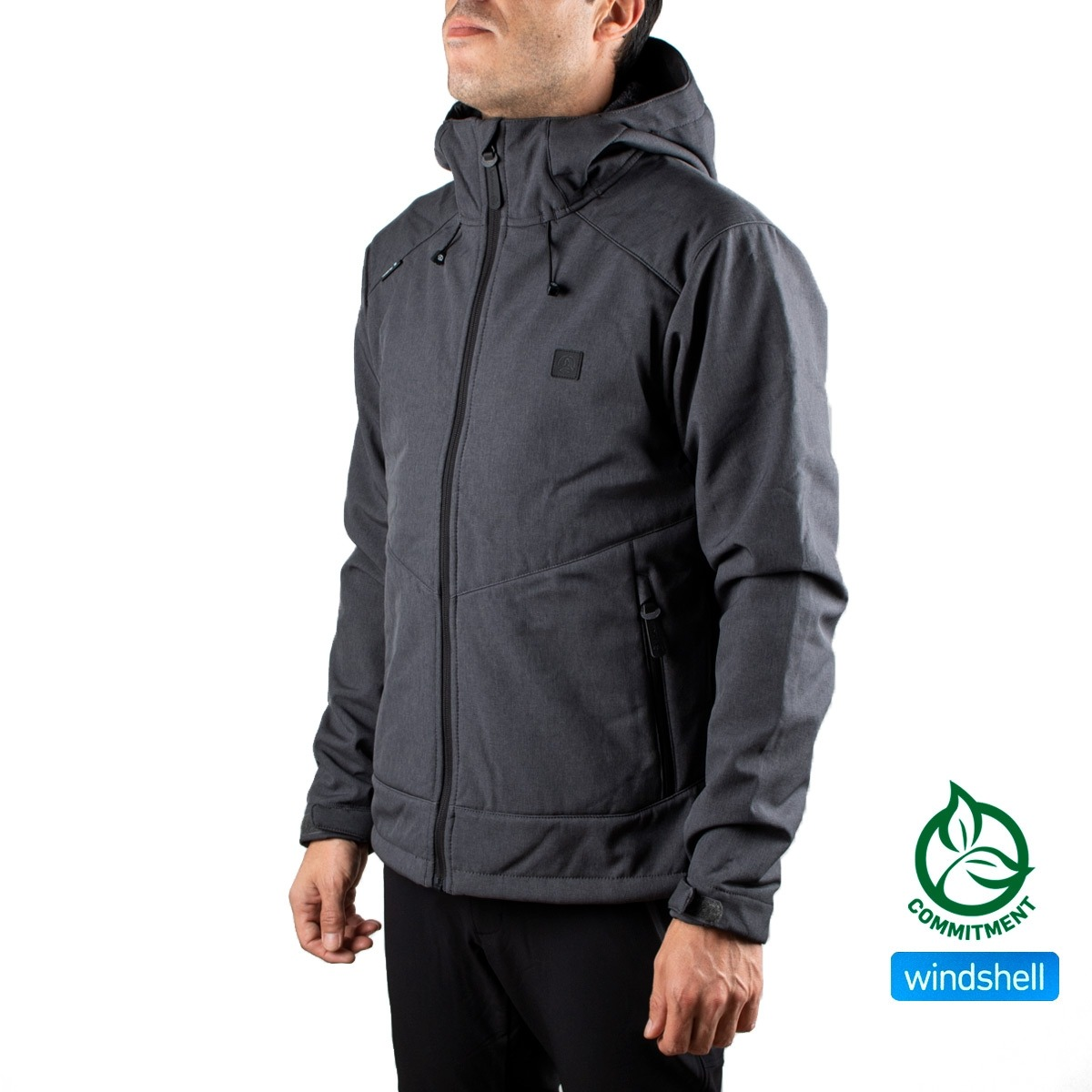 Ternua Softshell Tangalle JKT M A-Whales Grey Gris Hombre