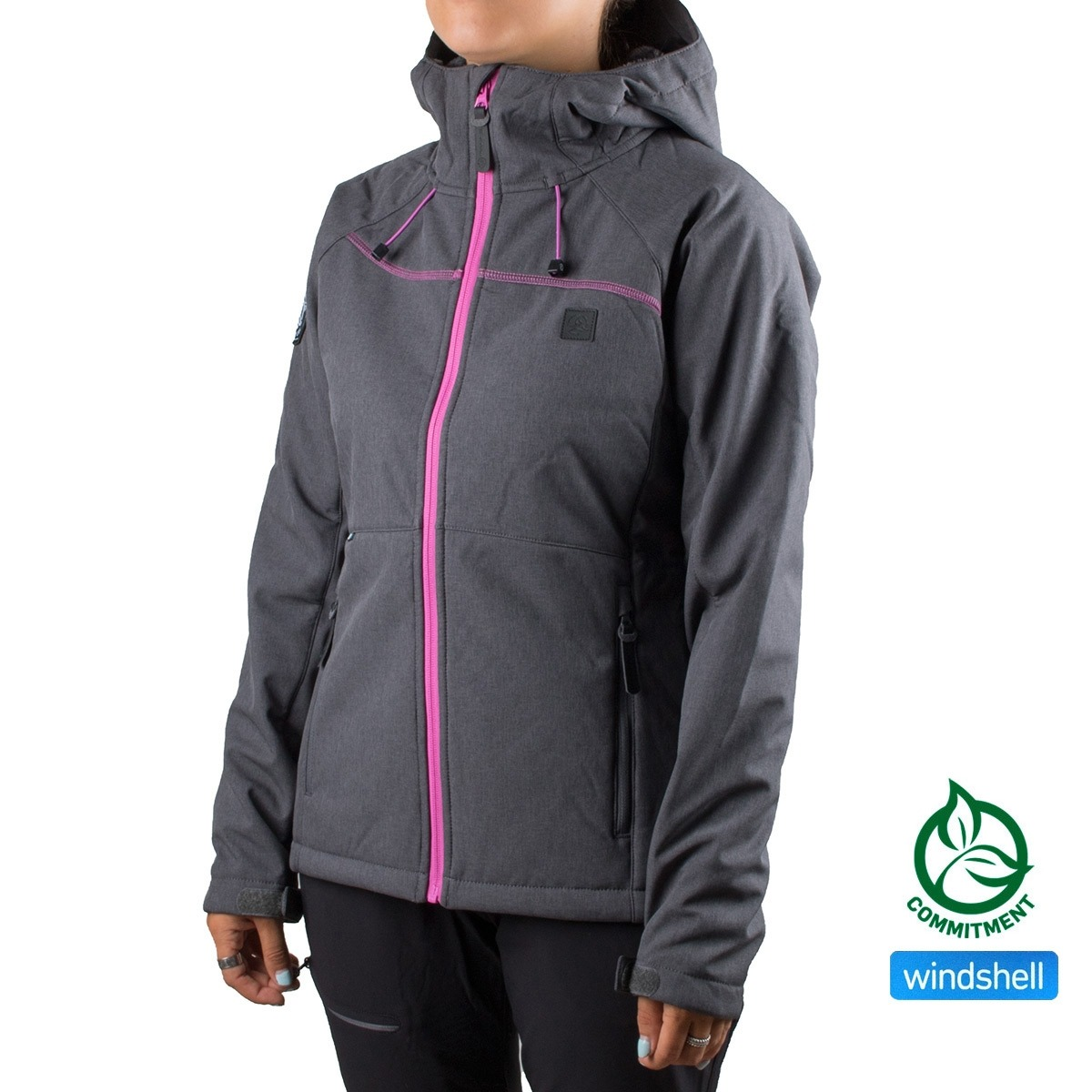 Ternua Softshell Tangalle W C-Whales Grey Gris Morado Mujer