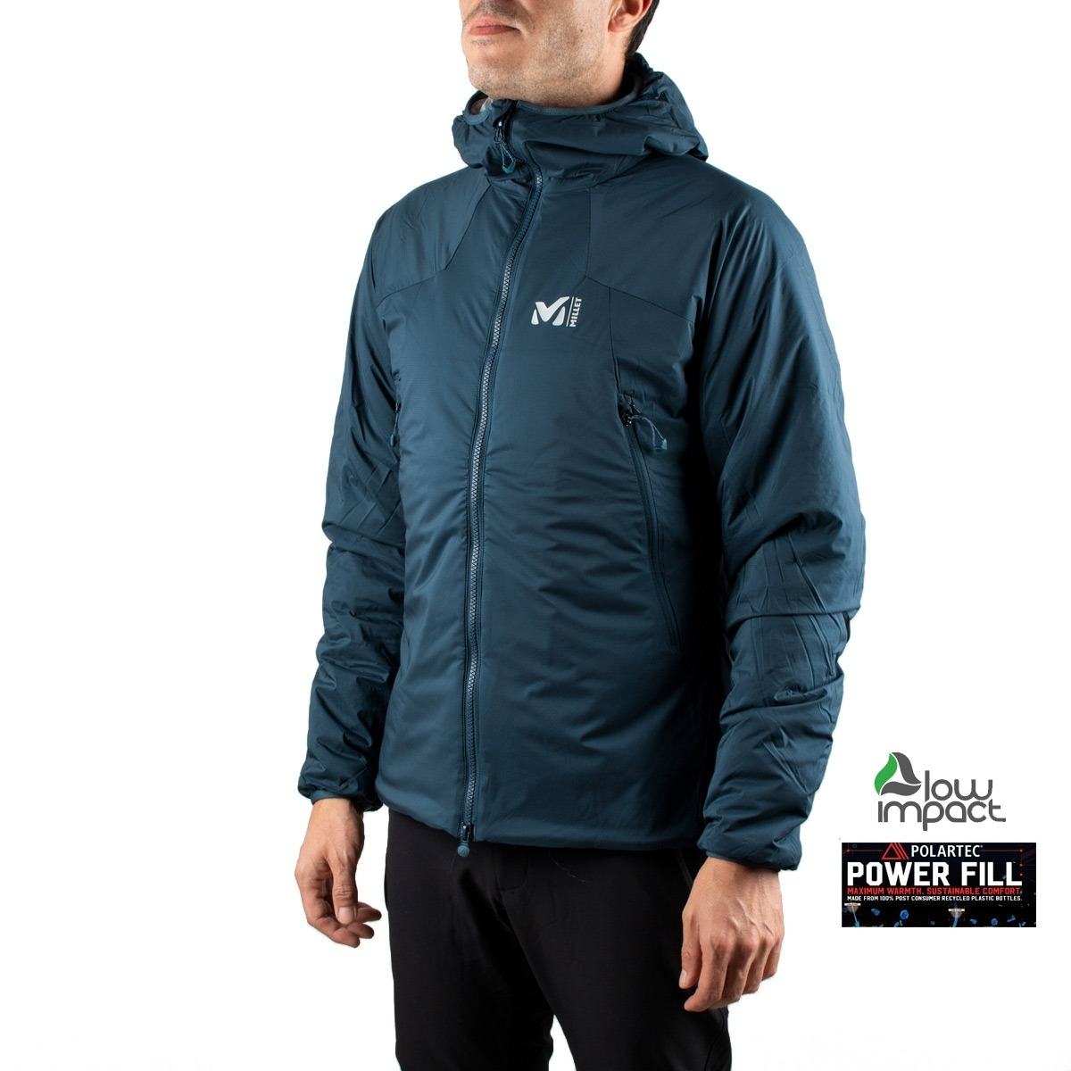 Millet Polartec K Belay Hoodie M Orion Blue Azul Oscuro Hombre