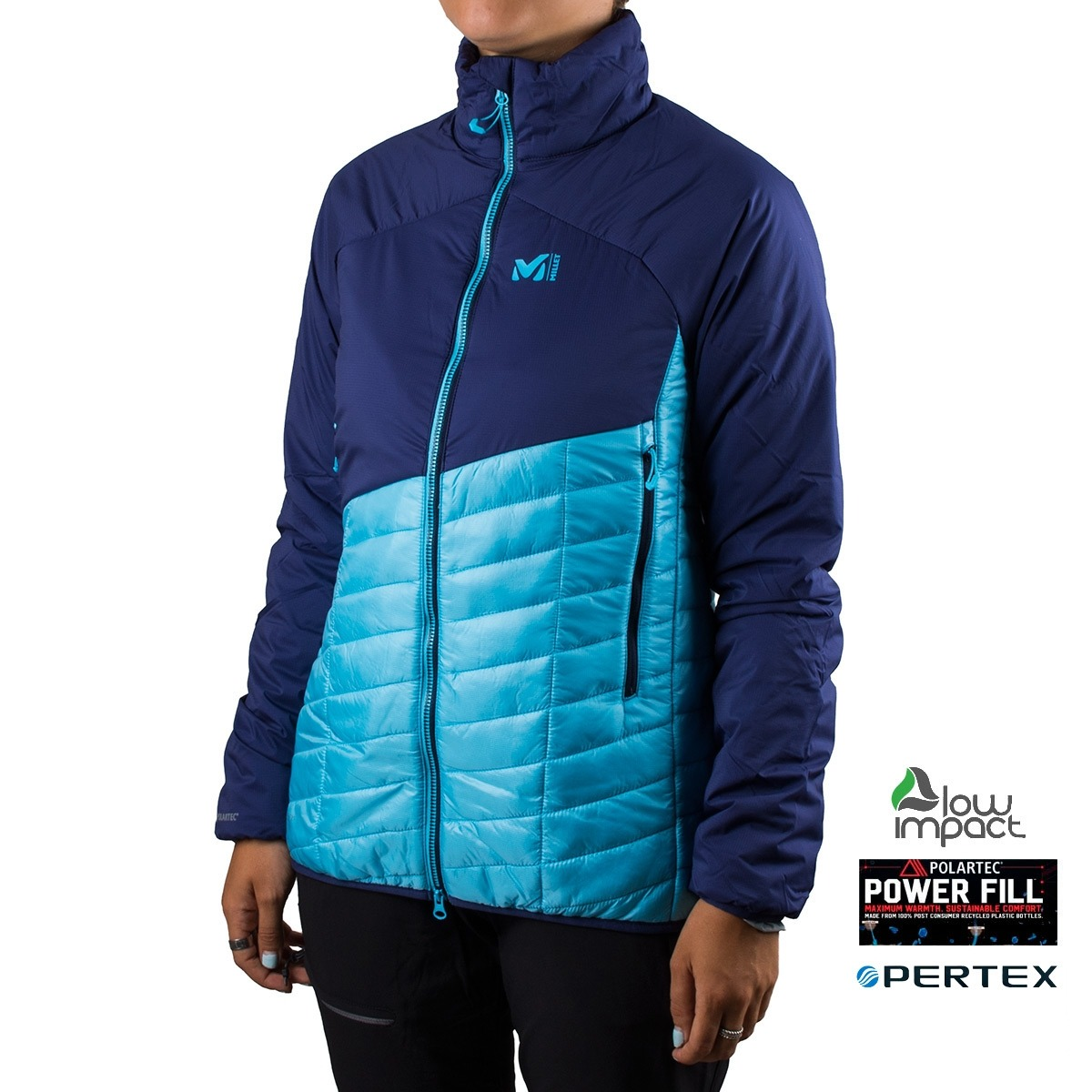Millet Polartec Elevation Airloft JKT W Blue Depths Azul Mujer