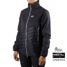 Millet Polartec Elevation Airloft Hoodie JKT W Black Noir Negro Mujer