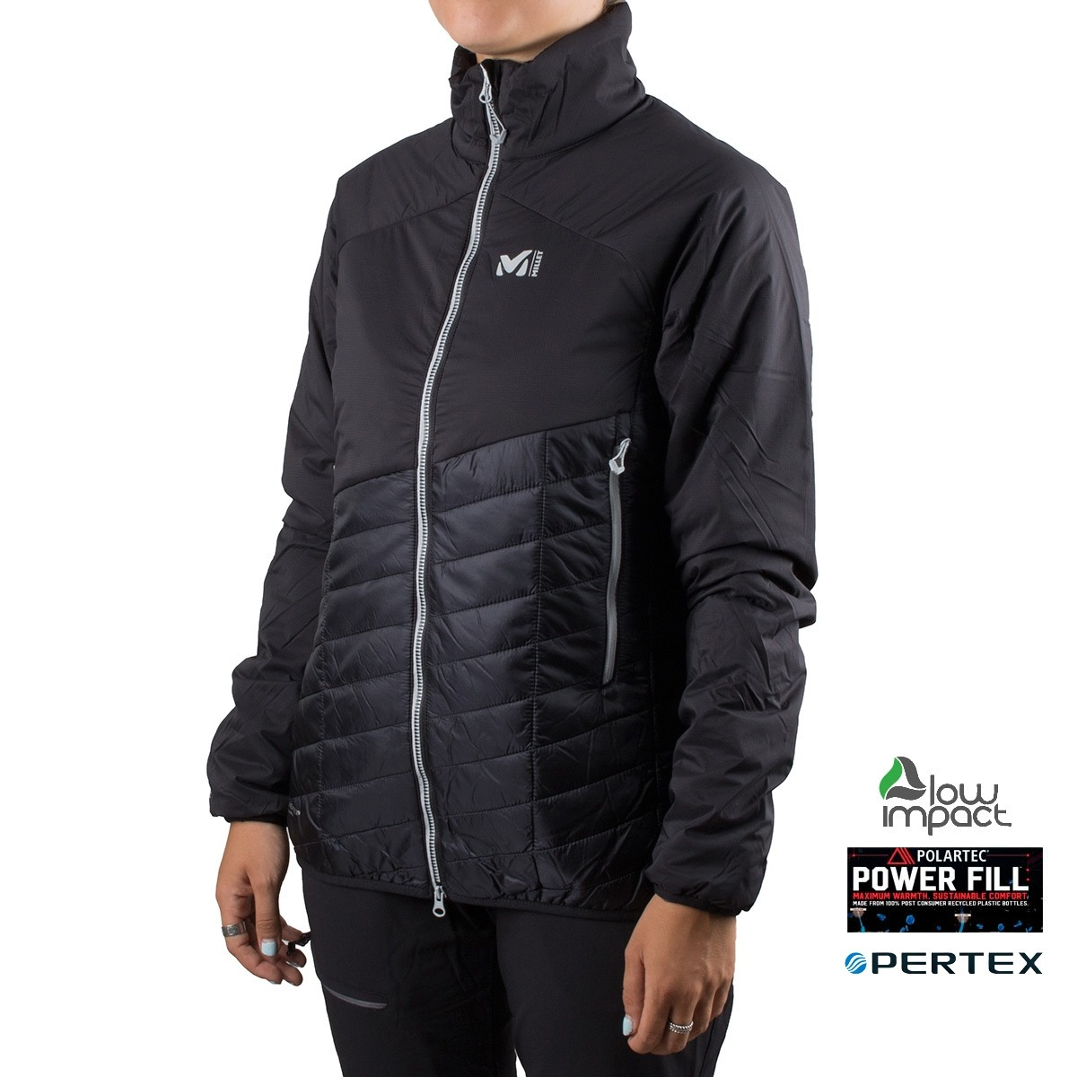 Millet Polartec Elevation Airloft JKT W Black Noir Negro Mujer