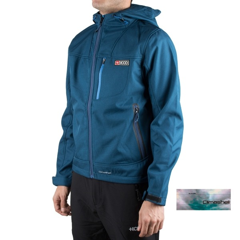 +8000 Softshell Teleno 19I Denim Bicolor Azul Hombre