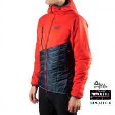 Millet Polartec Elevation Airloft Hoodie M Orion Blue Fire Marino Rojo Hombre