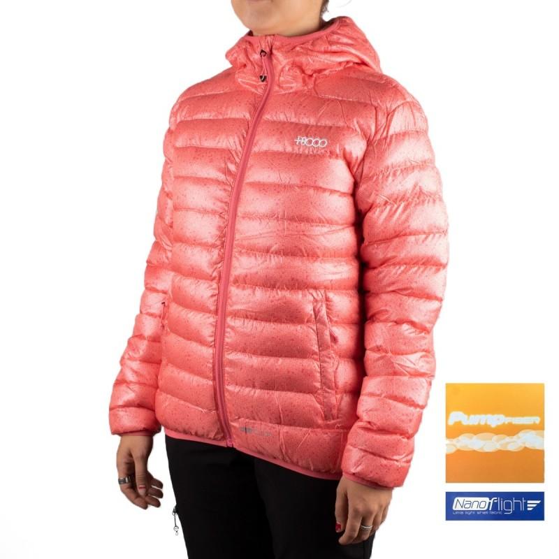 +8000 Chaqueta fibras Gurla 19I Geranio Estampado Rosa Mujer