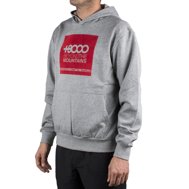 +8000 Sudadera Vandor 19I Gris Medio Vigore Rojo Hombre