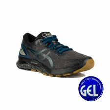 Asics Gel Nimbus 21 Winterized Graphite Grey Black Negro Azul Hombre