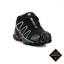 Salomon Zapatilla Speedcross 4 GTX W Metallic Bubble Blue Negro Menta Mujer