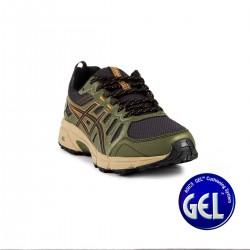 Asics Gel Venture 7 Black Tan Presidio Verde Militar Hombre