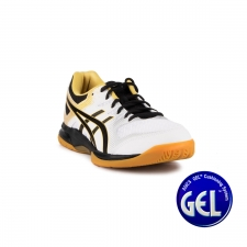 Asics Gel Rocket 9 White Black Blanco Negro Dorado Hombre