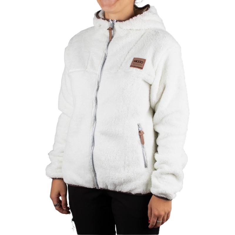 +8000 Chaqueta Polar Hali 19I Crudo Blanco Marrón Mujer