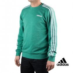 Adidas Sudadera Essentials 3 Bandas Green Mel / White Verde Hombre