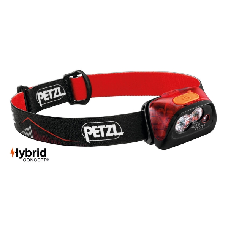 Petzl Frontal Actik Core 450 Rojo