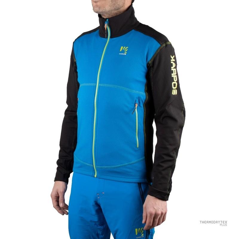 Karpos Pullover Alagna Fleece Azul Negro Verde Hombre