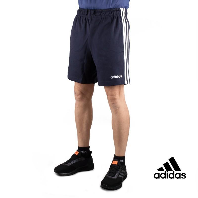 Adidas Pantalón corto Essentials 3 Stripes Short Single Marino Hombre