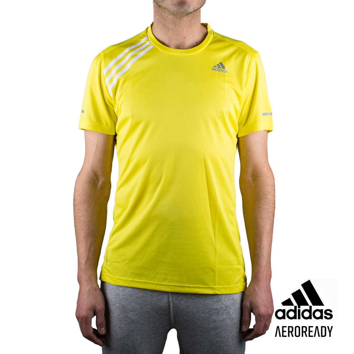 Adidas Camiseta Own The Run Tee Amarilla Hombre