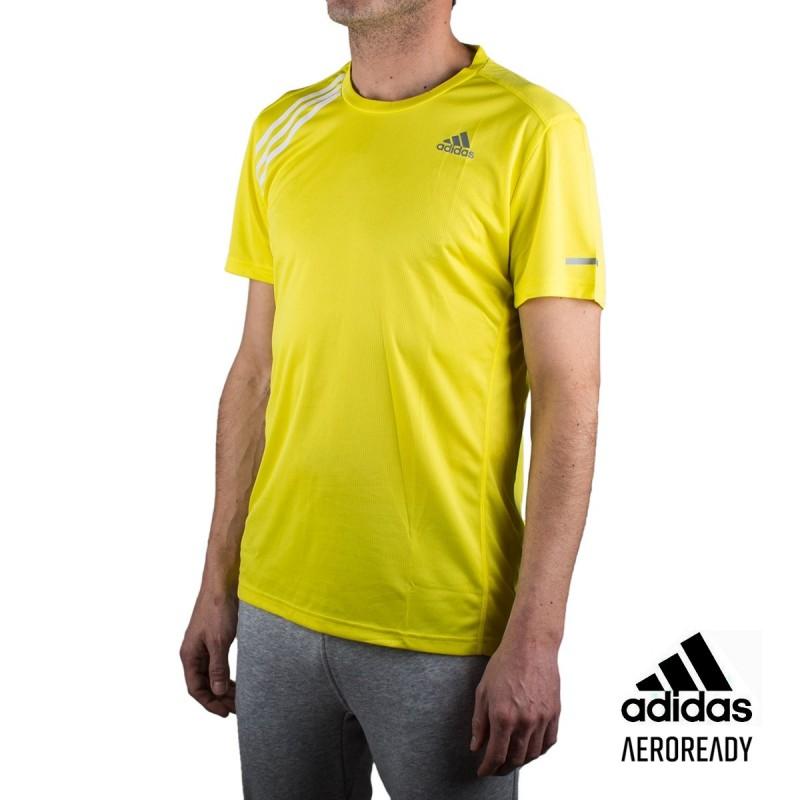 Adidas Camiseta Own The Run Tee Amarilla Hombre