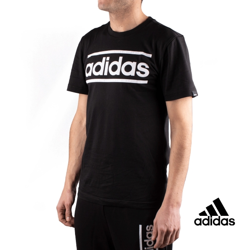 Adidas Camiseta M LOGO LN T Negro Hombre