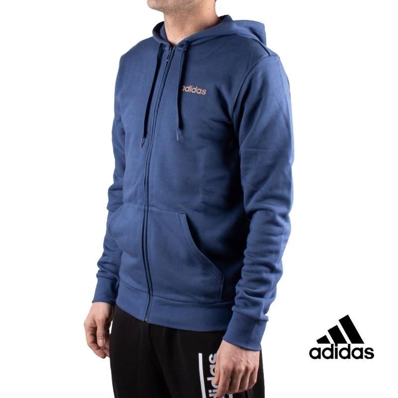 Adidas Chaqueta Con Capucha M ESS BR FZ Azul Hombre