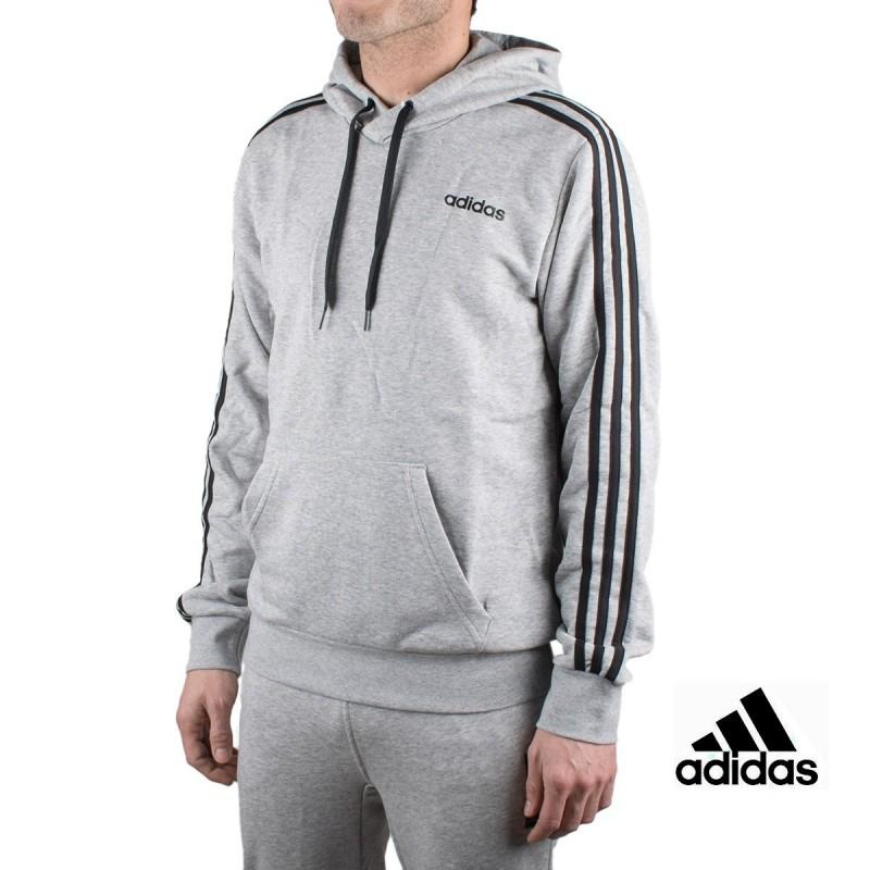 Adidas Sudadera Con Capucha E 3S PO FT Gris Hombre