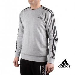 Adidas Sudadera E 3S CREW FT Gris Hombre