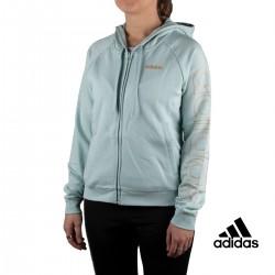 Adidas Sudadera W E BRAND HD TT Verde Mujer