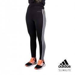 Adidas Mallas largas W D2M 3S HR LT bandas Negro Mujer