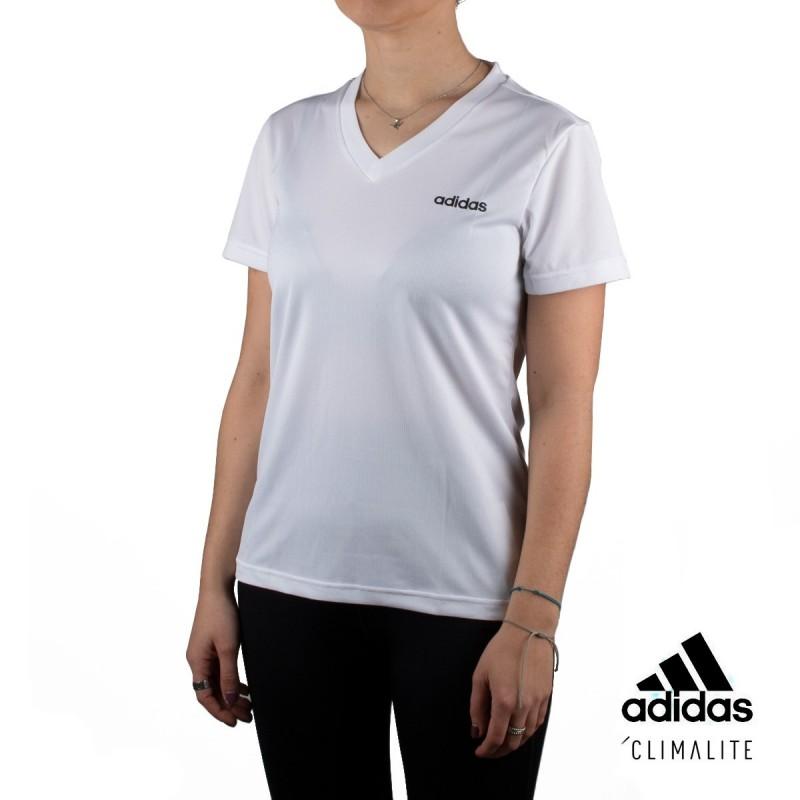 Adidas camiseta W D2M SOLID T Blanco Mujer