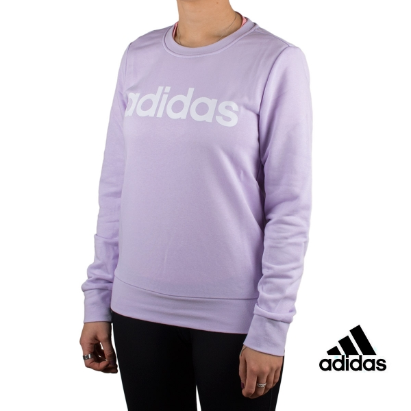 Adidas Sudadera W E LIN SWEAT Violeta Mujer