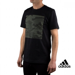 Adidas Camiseta M Camo Box T Noir Verher Negra Hombre