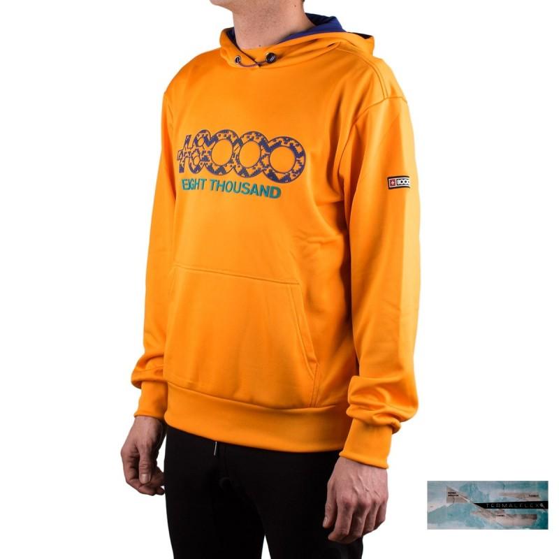 +8000 Sudadera Daniex M 20V Mango Mostaza Hombre
