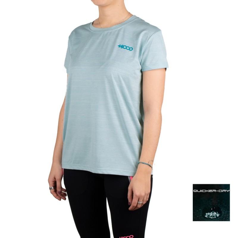 +8000 Camiseta STAX Pato Tej.Bicolor Azul Mujer
