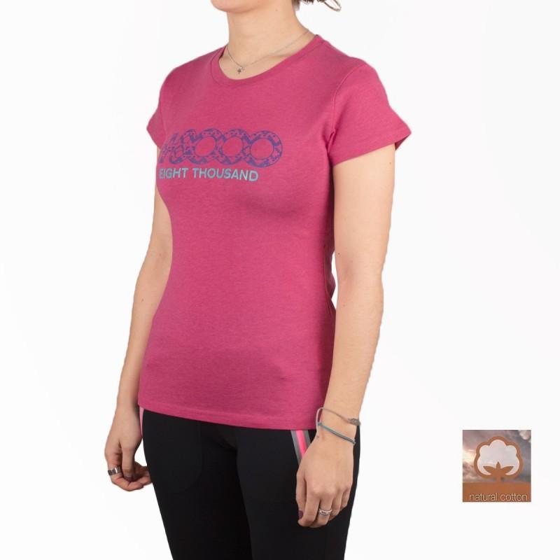 +8000 Camiseta Forqueta 20V Rosa Vigore Mujer