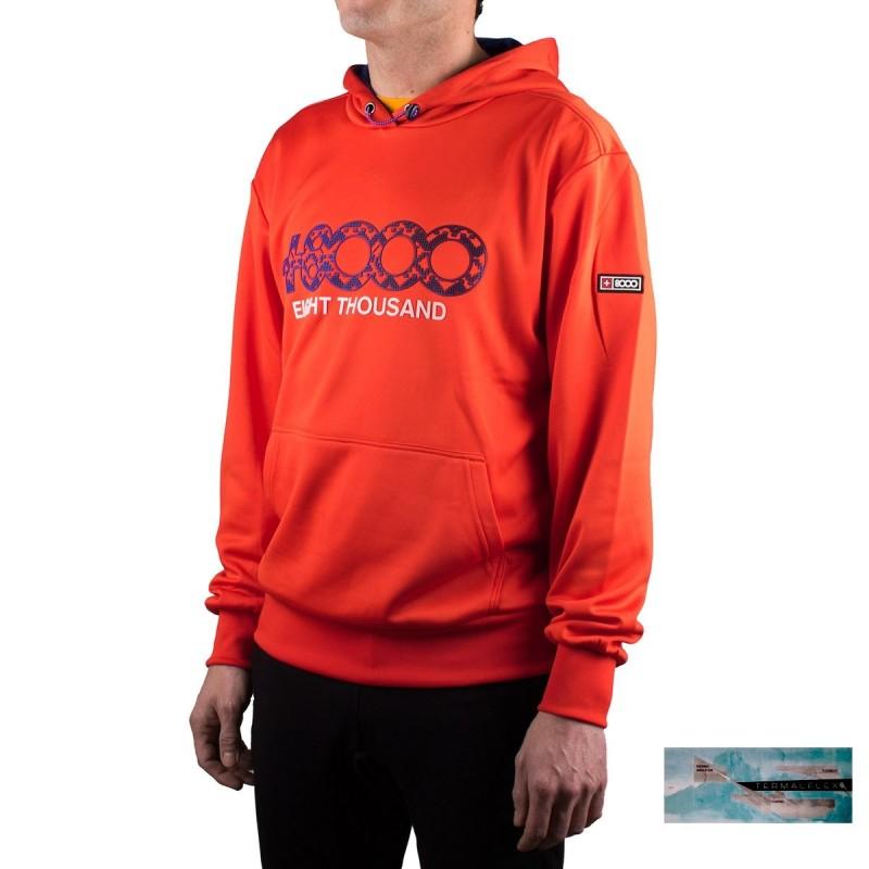 +8000 Sudadera Daniex M 20V Lava Naranja Hombre