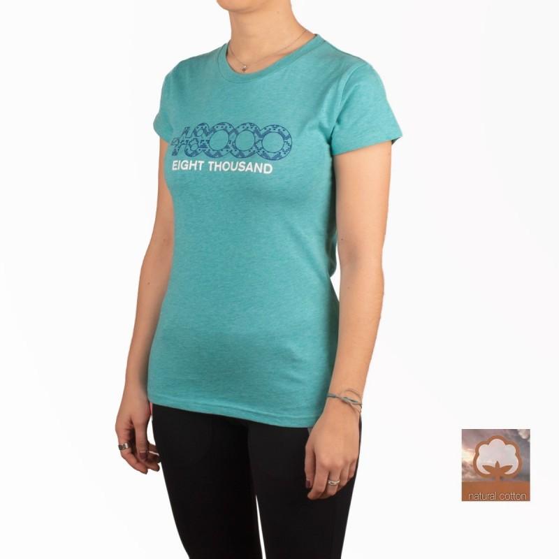 +8000 Camiseta Forqueta 20V Agua Marina Vigore Mujer
