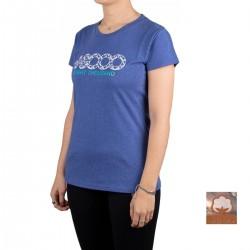 +8000 Camiseta Forqueta 20V Azul Tinta Vigore Mujer