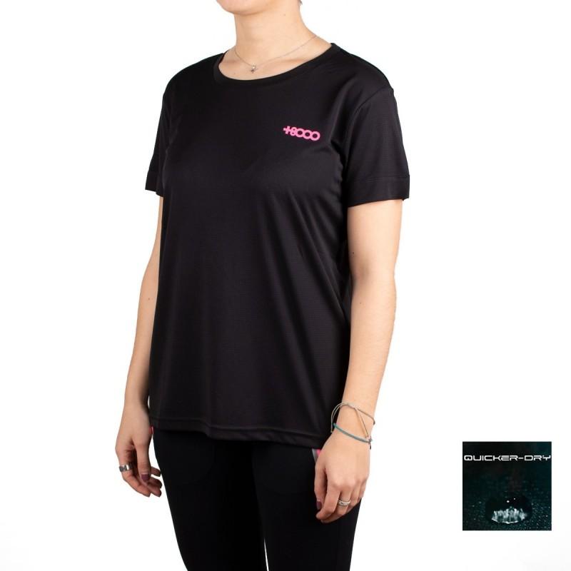 +8000 Camiseta Shira Negro Mujer