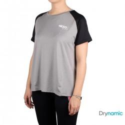 +8000 Camiseta Ameglia Gris Medio Vigore Mujer
