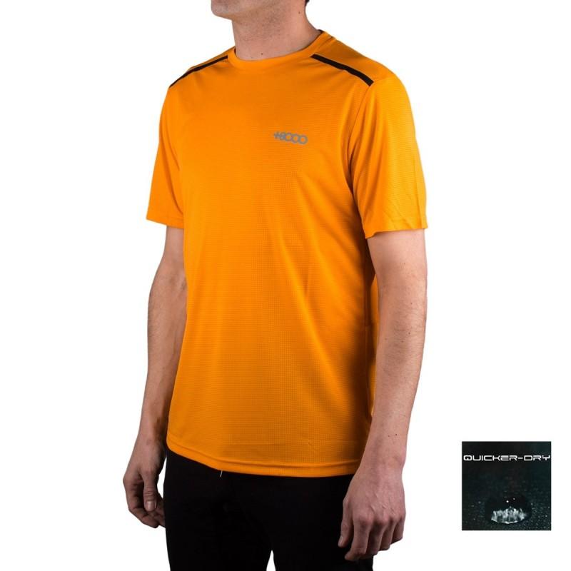 +8000 Camiseta Draco Mango Naranja Hombre