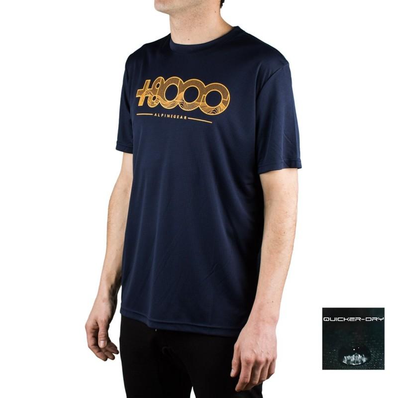 +8000 Camiseta Walk 20V Azul Lavado Hombre