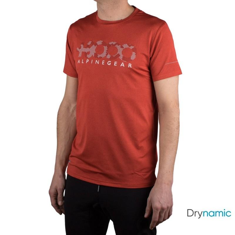 +8000 Camiseta Wanted 20V Naranja Rojo Vigore Hombre