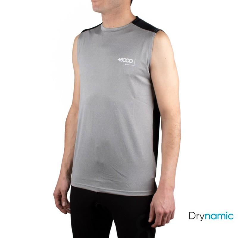 +8000 Camiseta Wells 20V Gris Medio Vigore Gris Negro Hombre