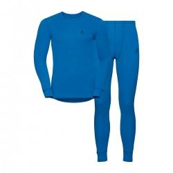 Odlo Conjunto Interior Active Warm Azul Hombre