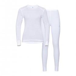 Odlo Conjunto Interior Active Warm Blanco Mujer
