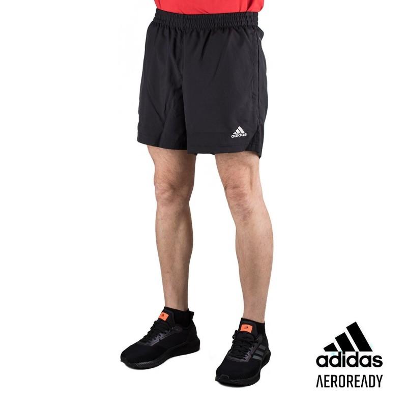 Adidas Pantalón corto Run It PB 3 bandas Negro Hombre