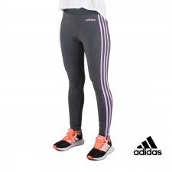 Adidas Mallas Essentials 3 bandas Gris Lila Mujer