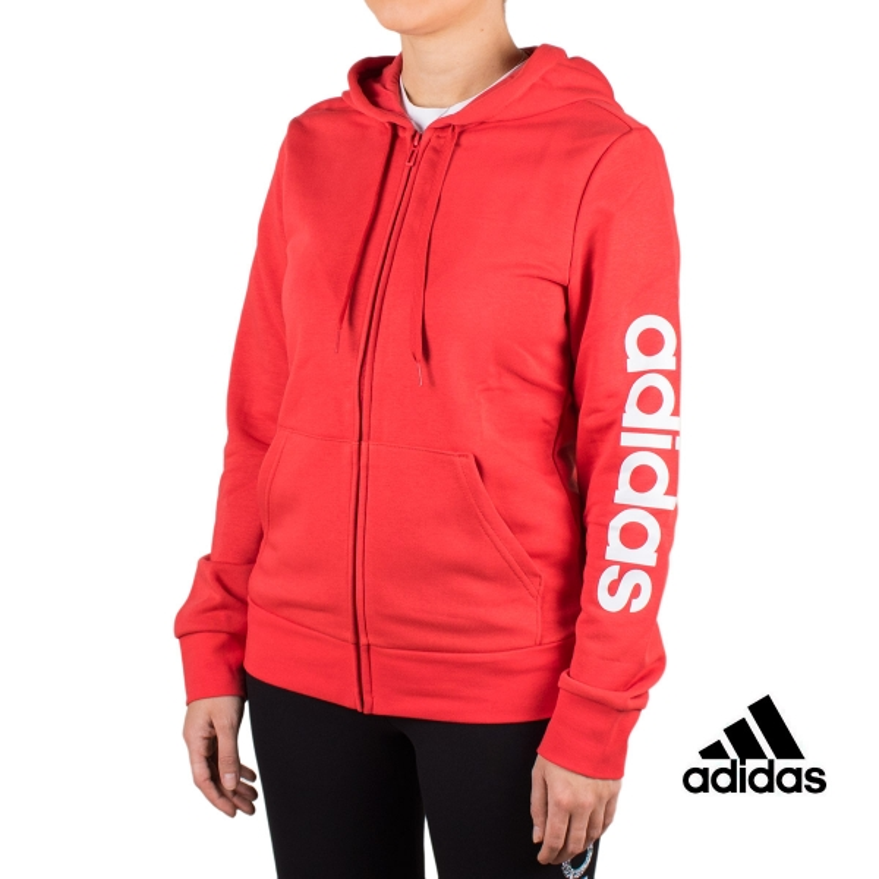 Adidas Sudadera Essentials Linear Glory Red Rojo Mujer
