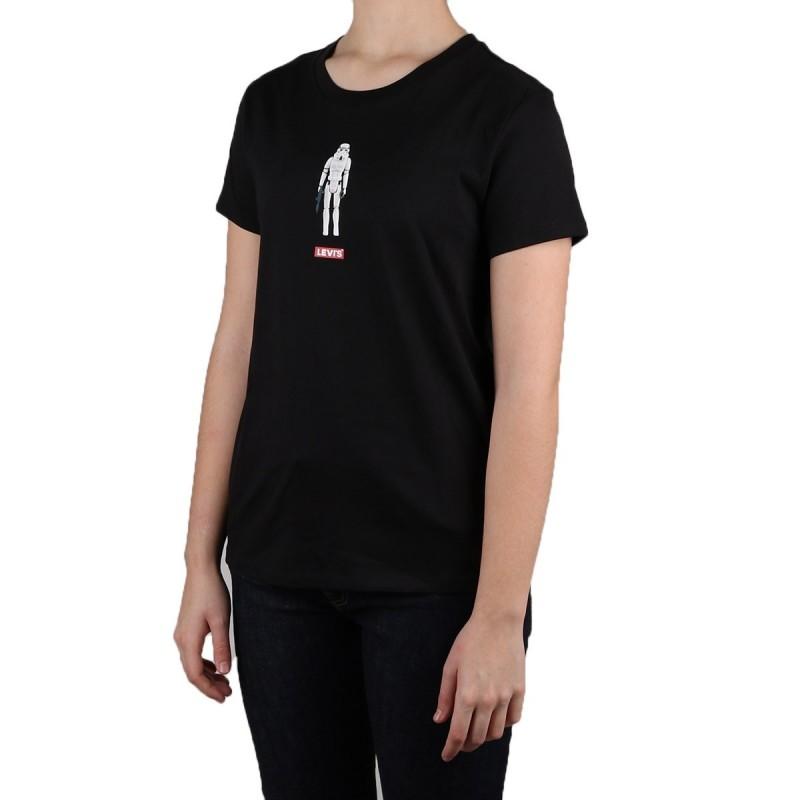 Levi´s Camiseta Gi Tee Star Wars Negro Mujer